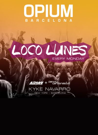 Nightclub Opium Mar party Loco Lunes